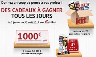 Jeu 100% gagnant YouJustDo : 1000€, 119 kits de bricolage...