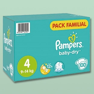 Promo Couches Pampers : -70% chez Auchan / réduction de 2€