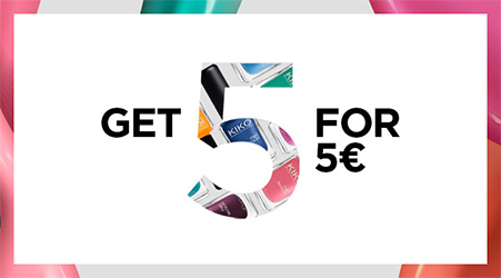 Get 5 for 5€ Kiko = 5 vernis à ongles pour seulement 5€
