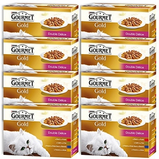 Promo alimentation chats : Gourmet Gold 96 sachets à 11,49€