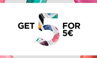 Promotion Kiko : 5 vernis pour 5€ au lieu de 14,50€