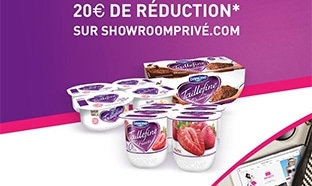 12 yaourts Taillefine achetés = 20€ offerts sur Showroomprivé