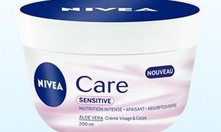 Test de la crème Nivea Care Sensitive : 400 produits gratuits