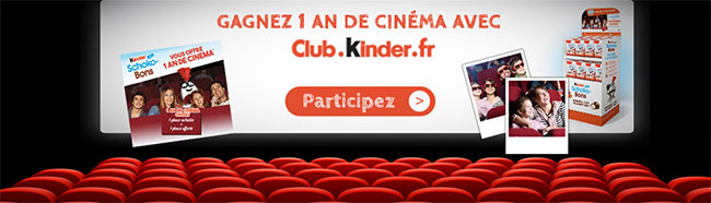 Instants gagnants Kinder : Des codes cinéma, des Schoko-Bons et des tirages Polaroid