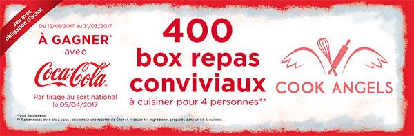 Gagner l'un des 400 coffrets repas pour 4 personnes avec Coca-Cola