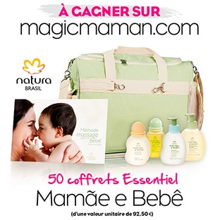 Jeu Magicmaman : 50 coffrets Mamãe e Bebê de Natura Brasil