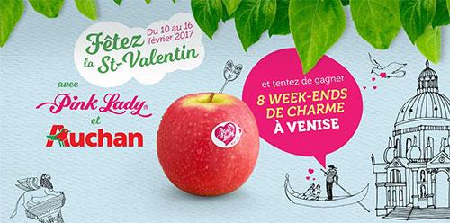 remportez l'un des 8 voyages à Venise avec Auchan et Pink Lady