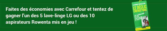 """Jeu """"Le déclic énergétique"""" de Carrefour"""