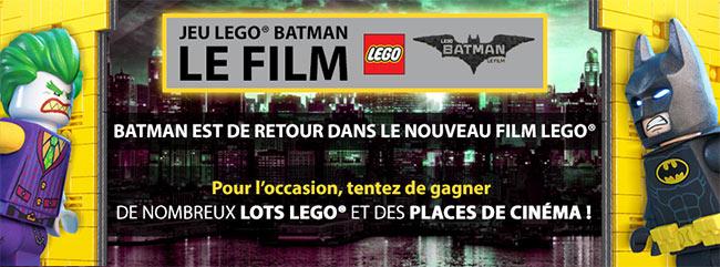Tentez de remporter l'un des 49 lots du film Lego Batman
