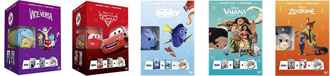 2 DVD Disney + 1 peluche Tsum Tsum à seulement 19,99€