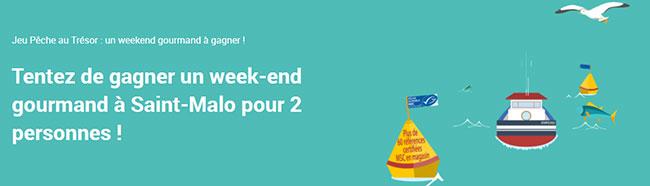 Concours Pêche au trésor : 10 cartes Carrefour et 1 week-end