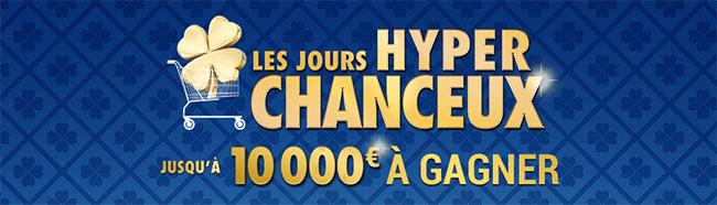 Tickets Les Hyper Chanceux en magasin et jeu sur Carrefour.fr