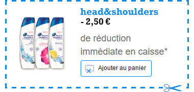 Coupon de réduction Shampoing Head&Shoulders