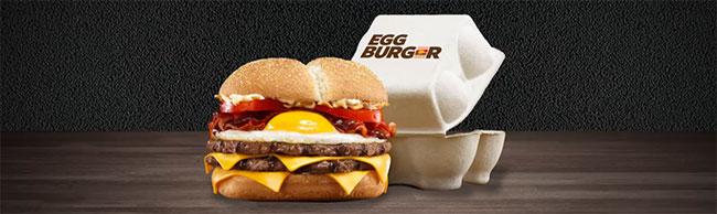 Egg Burger offert par Burger King à tous les chauves