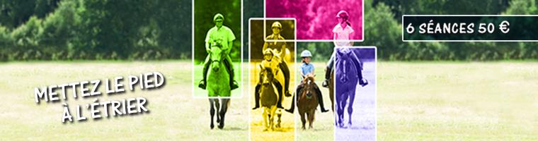 L'équitation « en promotion » : 6 séances à 50€ seulement