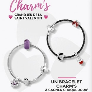 jeu maty saint valentin 22 bracelets avec 3 charm s gagner. Black Bedroom Furniture Sets. Home Design Ideas