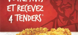 KFCmonavis.fr : Votre avis contre 4 Tenders offerts