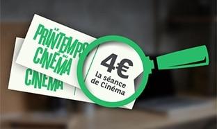 Jeu Printemps du Cinéma 2017 : Contremarques à 4€ gratuites