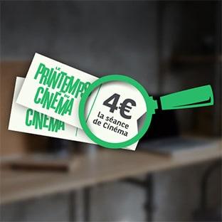 Jeu Printemps du Cinéma : Contremarques à 4€ gratuites