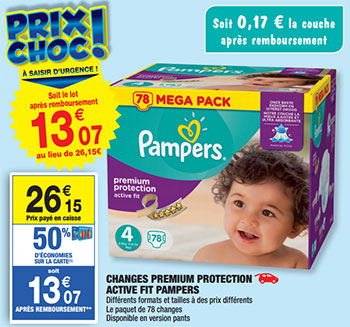 Carrefour market promo couches pampers m ga pack 10 46 - Promo couche pampers carrefour ...