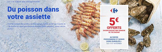 Carrefour Poissonnerie : Jusqu'à 30€ offerts en bon d'achat