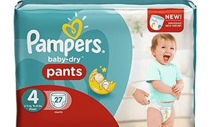 Test Pampers : 1000 paquets de couches Baby-Dry Pants gratuits