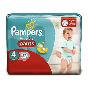Test pampers 1000 paquets de couches baby dry pants gratuits - Combien coute un paquet de couche pampers ...
