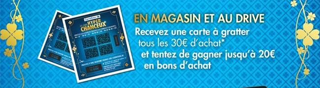 Tickets à gratter Carrefour Les Hyper Chanceux
