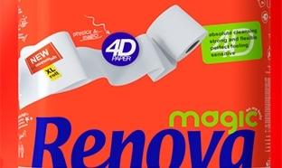 Promo Magasin U : 48 rouleaux de papier WC Renova 4D à 5,99€
