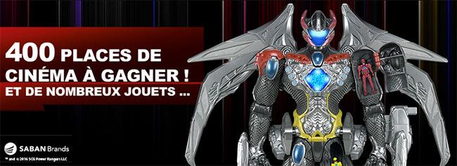 Tentez de gagner l'un des 185 lots de cadeaux Power Rangers