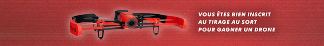 Drone Parrot à gagner par tirage au sort