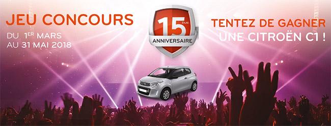 remportez la Citroën C1 Live avec Euro Repar Car Service