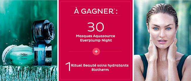 31 lots Biotherm à gagner