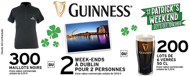 lots à remporter aux instants gagnants Guinness avec Intermarché