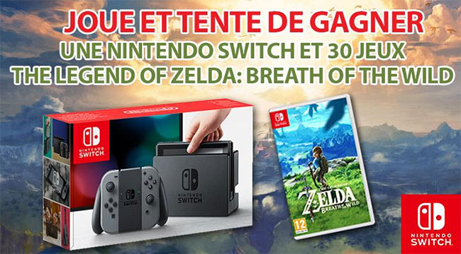 une console nintendo switch et 30 jeux zelda gagner. Black Bedroom Furniture Sets. Home Design Ideas