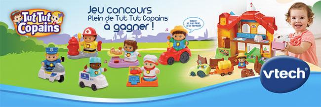 Gagnez l'un des 20 lots de 2 jouets VTech Tut Tut Copains