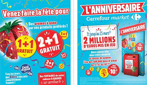 Carrefour Market Anniversaire 2018 : Promos et jeux