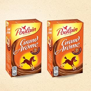 Chocolat en poudre Poulain gratuit grâce un bon de réduction