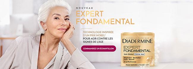 échantillon de la crème Expert Fondamental Jour de Diadermine