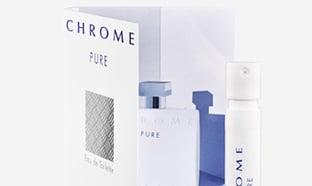 Recevez un échantillon gratuit du parfum Azzaro Chrome Pure