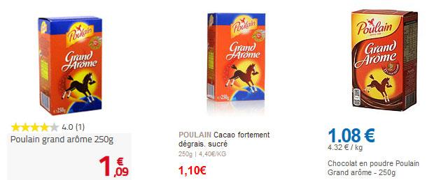 Le chocolat Poulain Grand Arôme