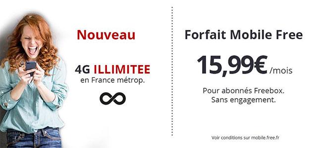 Free mobile propose désormais la 4G avec data illimitée
