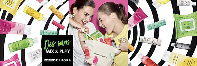 Découvrez gratuitement les crèmes Sephora Mix & Play