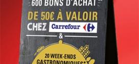 Jeu Président / Top Chef : 620 bons d'achat Carrefour de 50€…