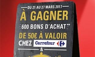 Jeu Président / Top Chef : 620 bons d'achat Carrefour de 50€...