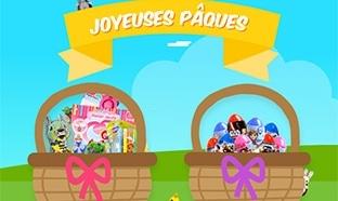Jeu Chasse aux œufs Lansay : Figurines Disney et paniers garnis
