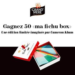 Jeu Marie France : 50 box de 2 fichus Cameron Kham à gagner