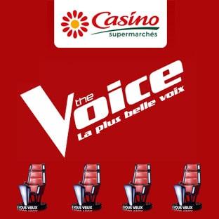 Jeu Casino Live The Voice : 500 bons d'achat de 5€ à gagner