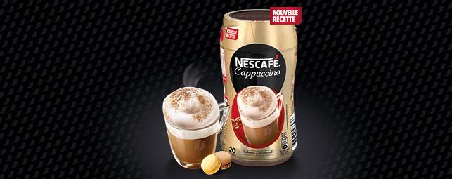 testez gratuitement Cappuccino Original et Chocolat Blanc de Nescafé