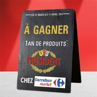 Jeu Président / Top Chef : 400 bons Carrefour Market de 50€